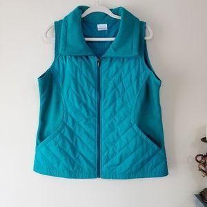 Columbia Perfect Mix Vest Turquoise Size XL